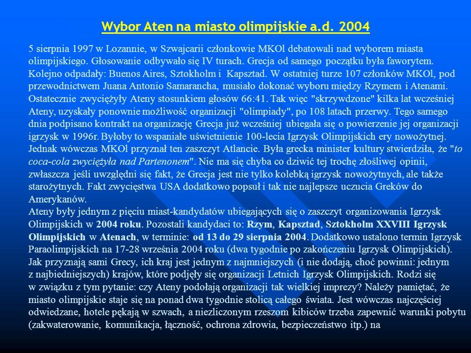 Wybor Aten na miasto olimpijskie a.d. 2004