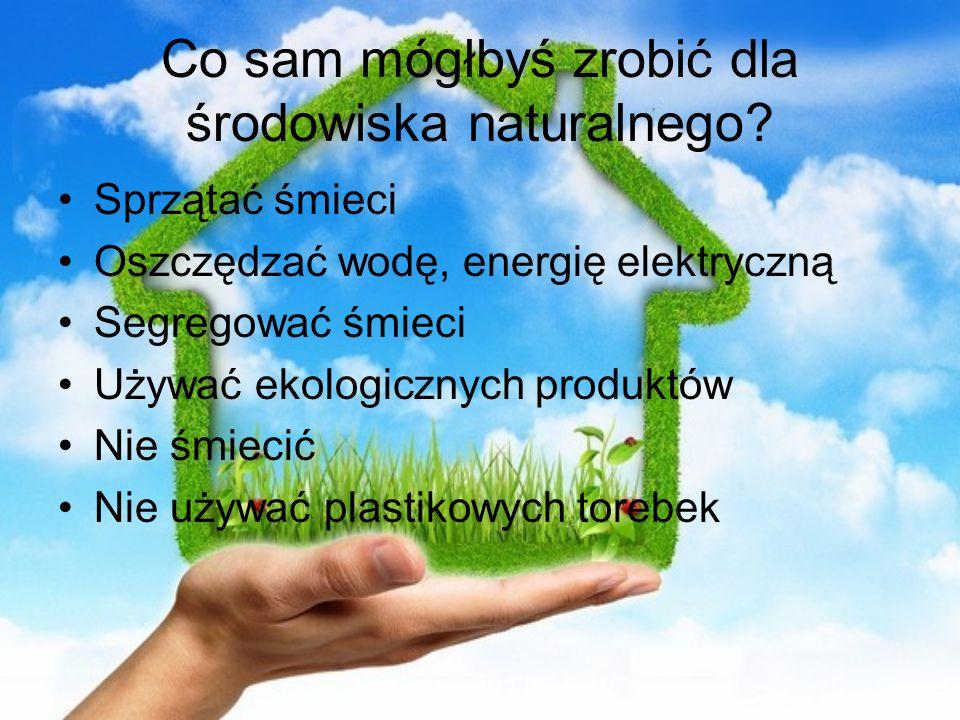 Co sam mógłbyś zrobić dla środowiska naturalnego