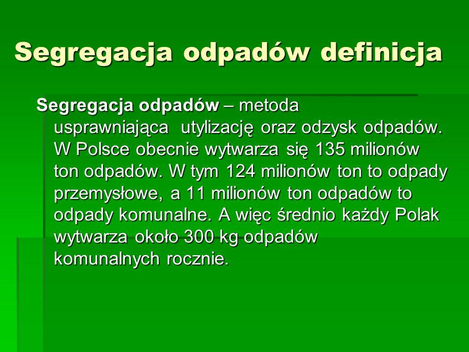 Segregacja odpadów definicja