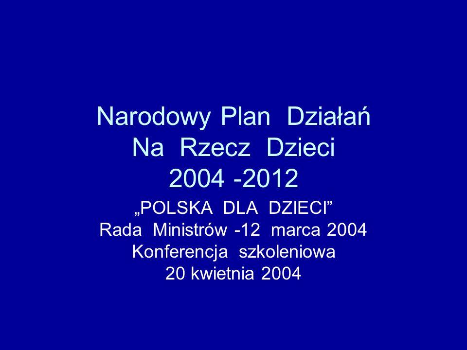 Narodowy Plan Działań Na Rzecz Dzieci 2004 -2012