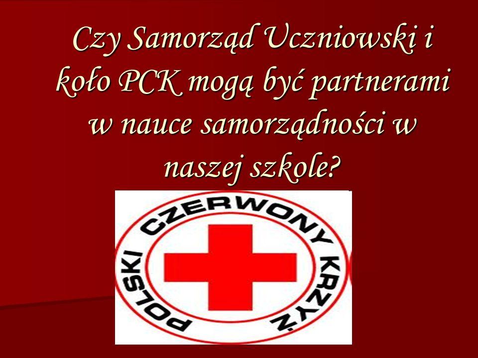 Czy Samorząd Uczniowski i koło PCK mogą być partnerami w nauce samorządności w naszej szkole