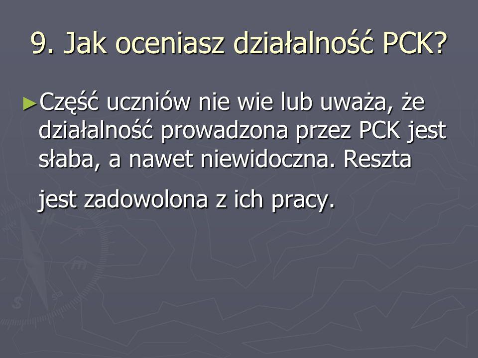 9. Jak oceniasz działalność PCK