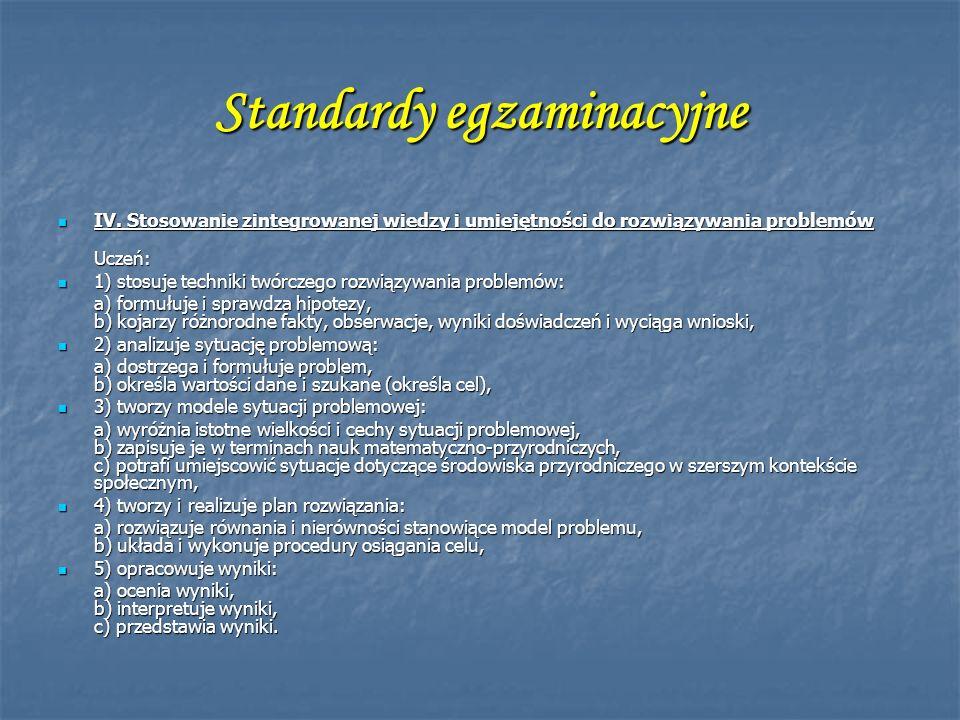 Standardy egzaminacyjne