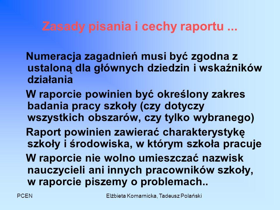 Zasady pisania i cechy raportu ...