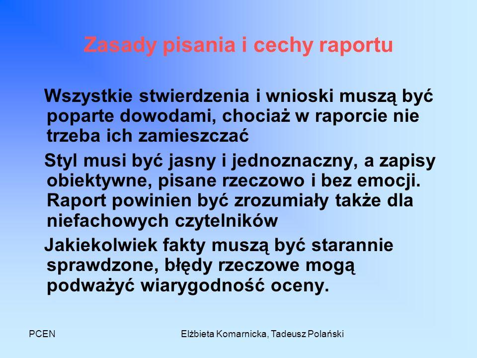 Zasady pisania i cechy raportu