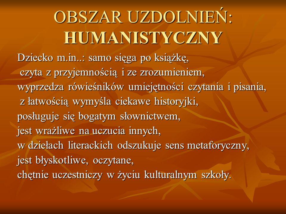 OBSZAR UZDOLNIEŃ: HUMANISTYCZNY