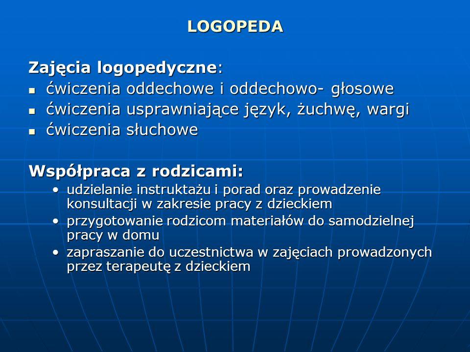 Zajęcia logopedyczne: ćwiczenia oddechowe i oddechowo- głosowe