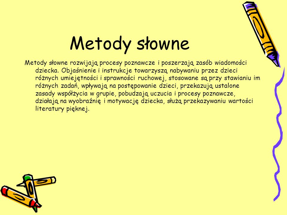 Metody słowne