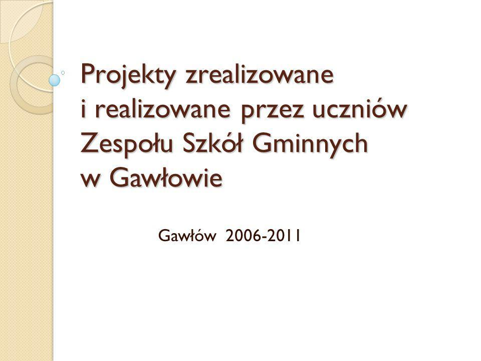 Projekty zrealizowane i realizowane przez uczniów Zespołu Szkół Gminnych w Gawłowie