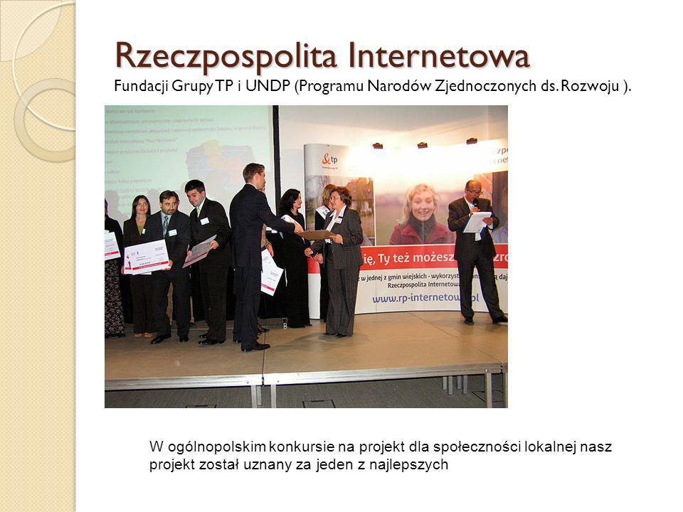 Rzeczpospolita Internetowa Fundacji Grupy TP i UNDP (Programu Narodów Zjednoczonych ds. Rozwoju ).