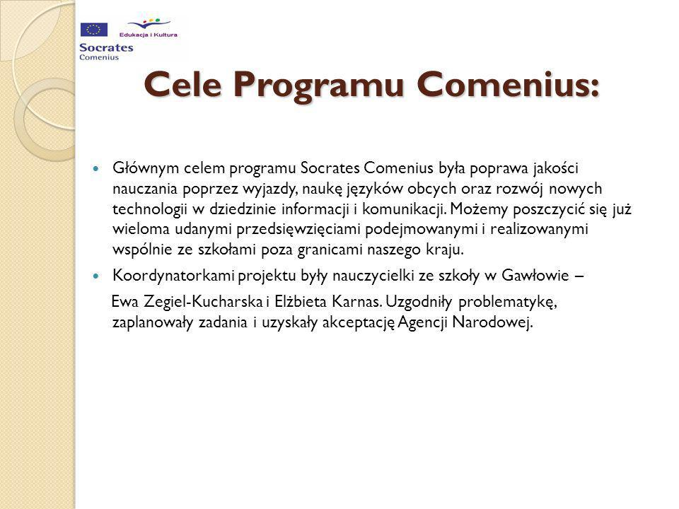 Cele Programu Comenius: