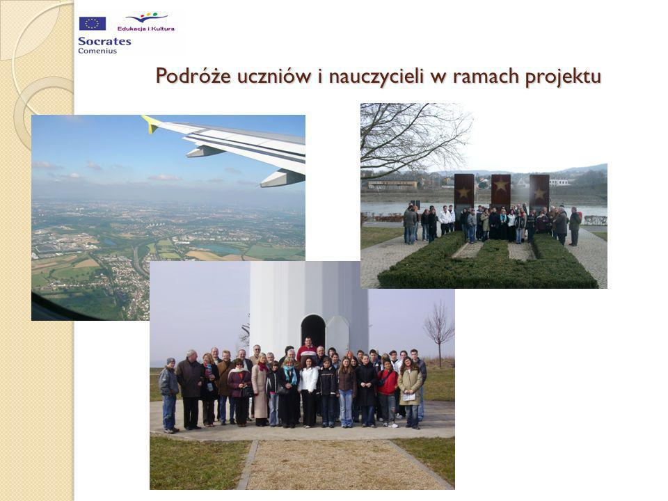 Podróże uczniów i nauczycieli w ramach projektu