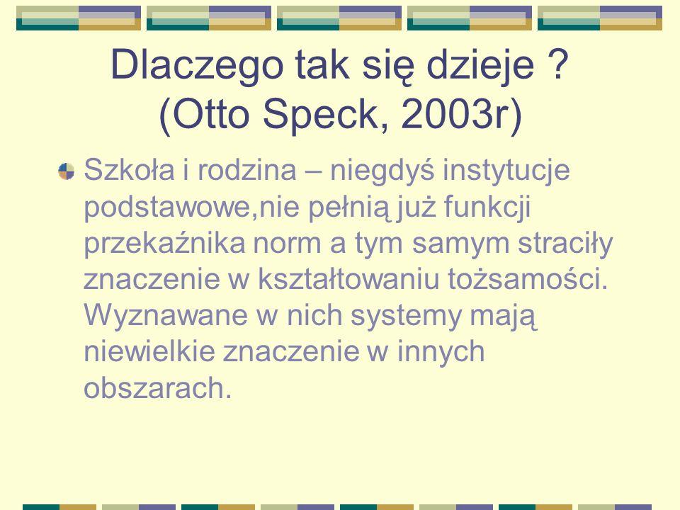 Dlaczego tak się dzieje (Otto Speck, 2003r)