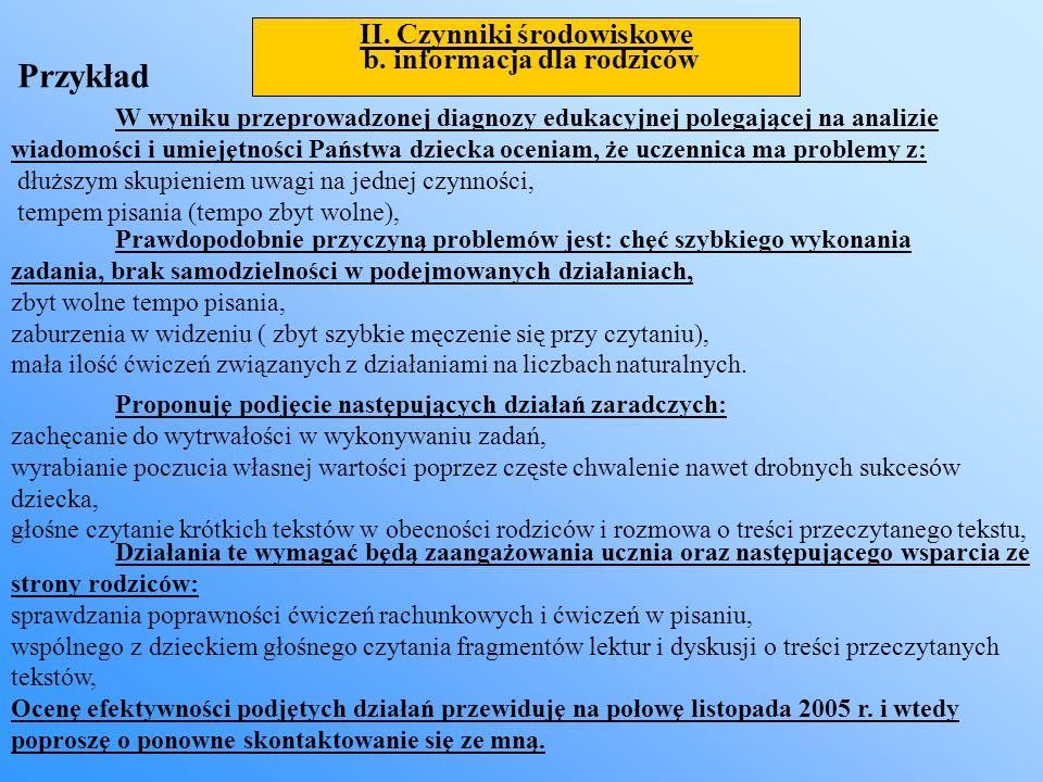 II. Czynniki środowiskowe
