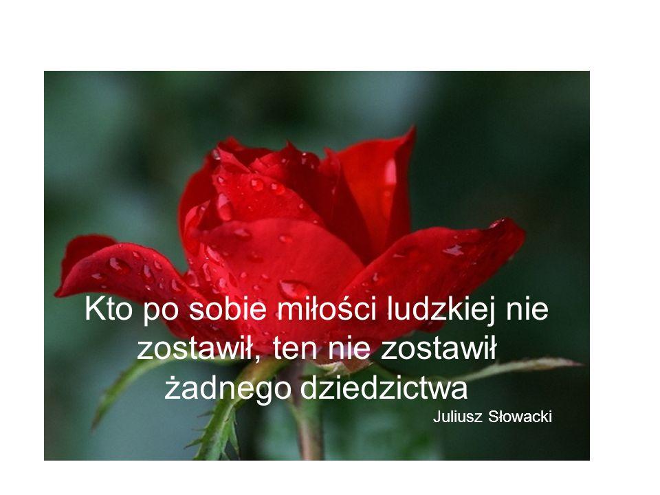 Kto po sobie miłości ludzkiej nie zostawił, ten nie zostawił żadnego dziedzictwa