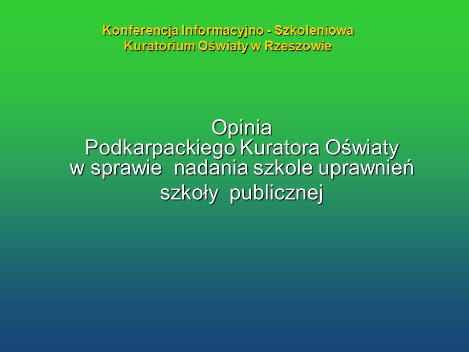 Konferencja Informacyjno - Szkoleniowa Kuratorium Oświaty w Rzeszowie