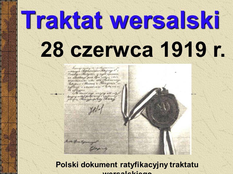 Polski dokument ratyfikacyjny traktatu wersalskiego