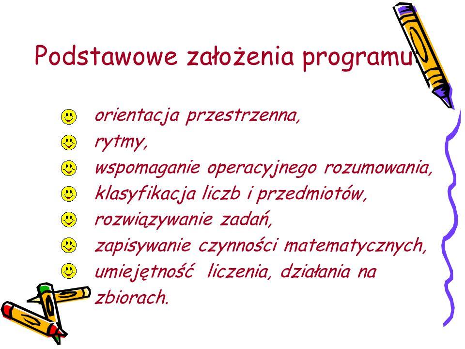 Podstawowe założenia programu: