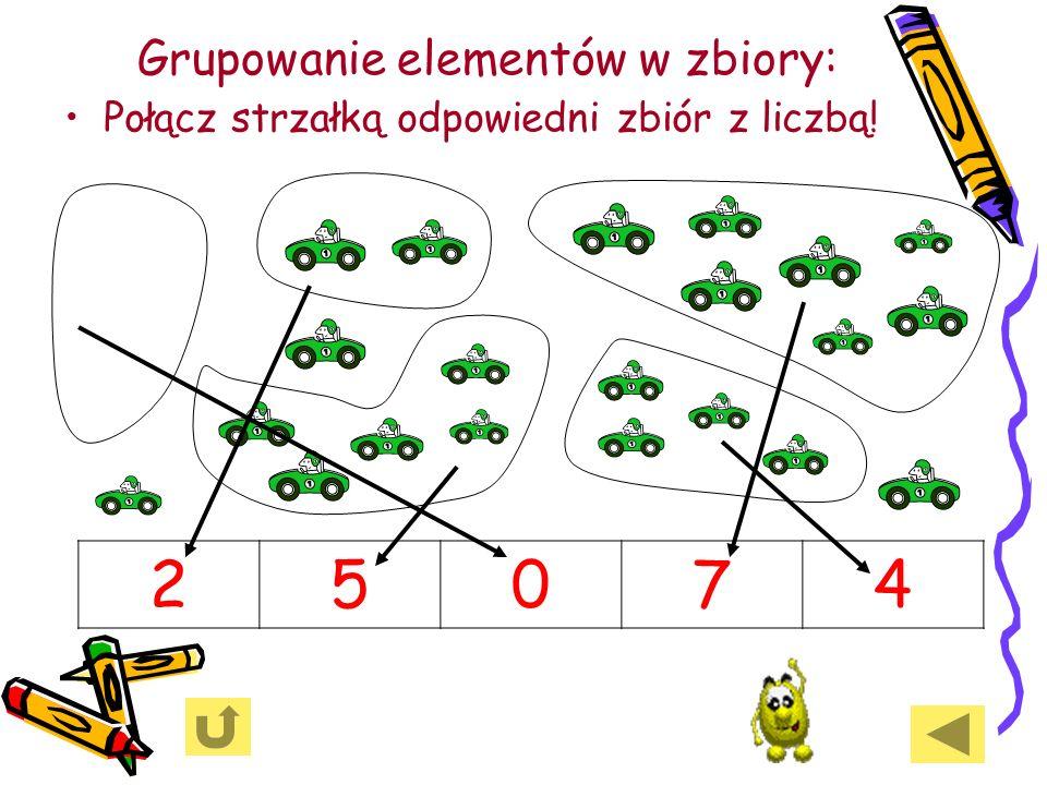 Grupowanie elementów w zbiory: