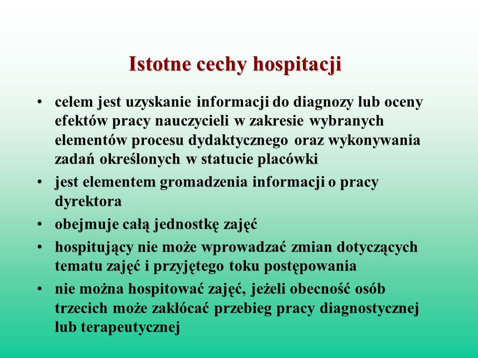 Istotne cechy hospitacji