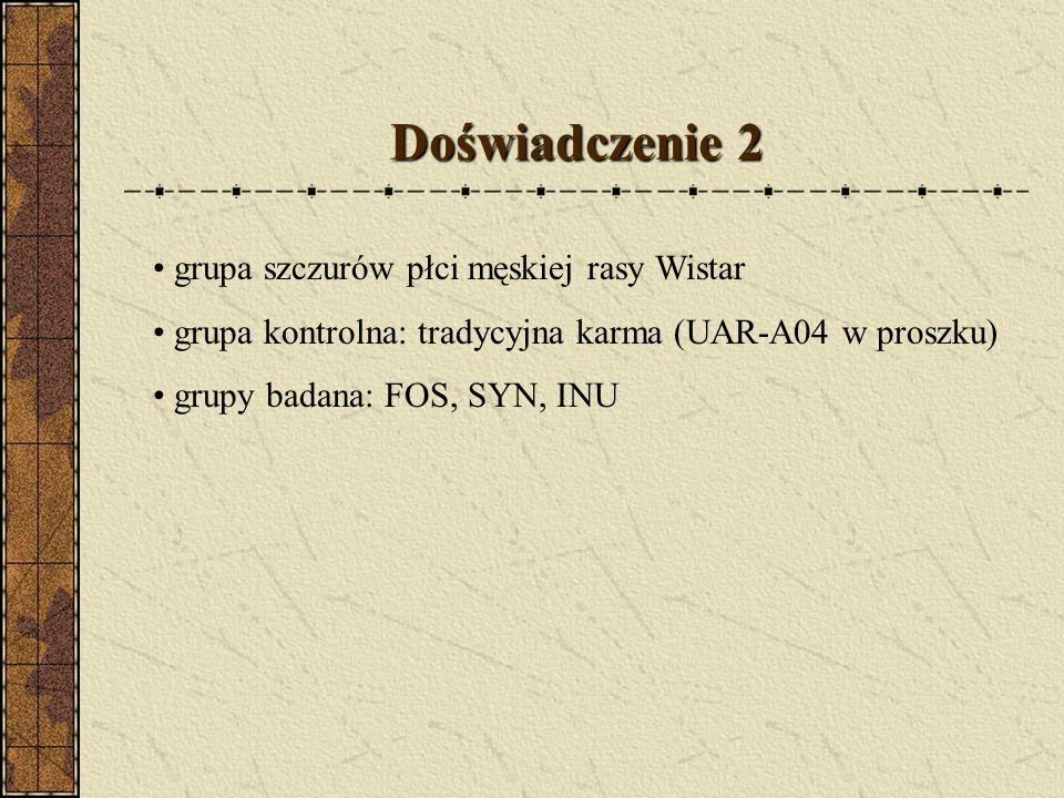 Doświadczenie 2 grupa szczurów płci męskiej rasy Wistar