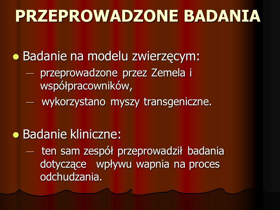 PRZEPROWADZONE BADANIA