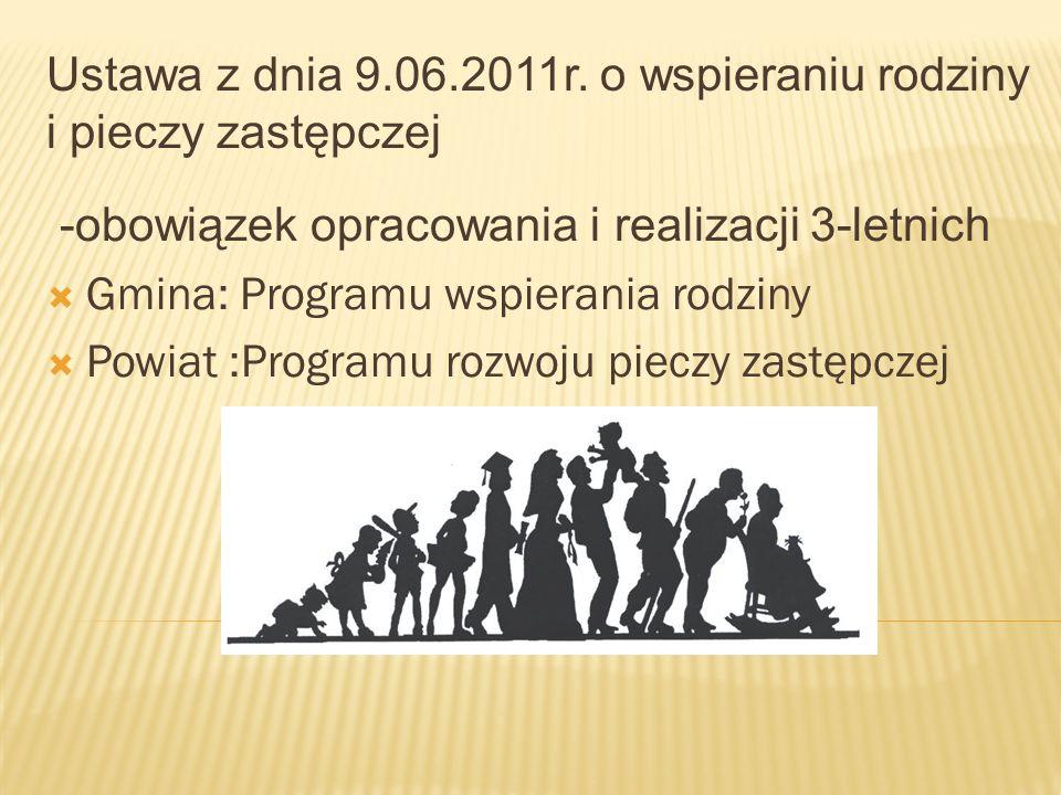 Ustawa z dnia 9.06.2011r. o wspieraniu rodziny i pieczy zastępczej
