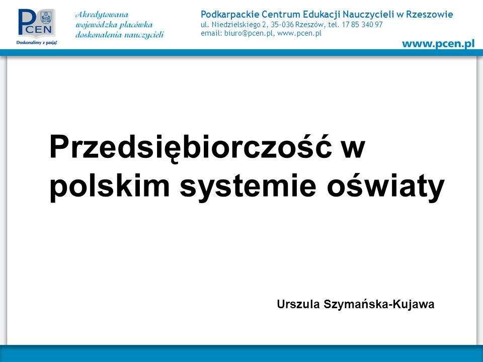 Przedsiębiorczość w polskim systemie oświaty