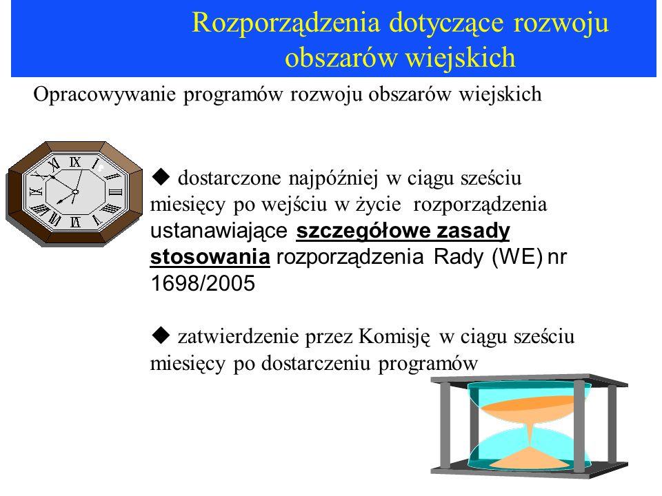 Rozporządzenia dotyczące rozwoju obszarów wiejskich