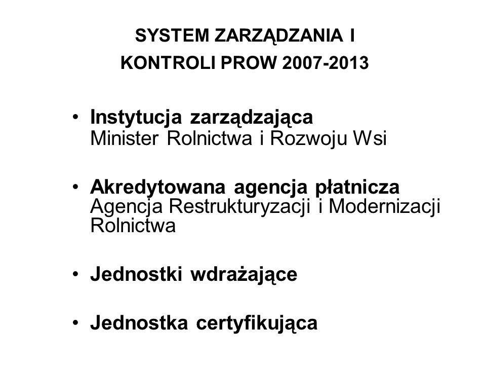 SYSTEM ZARZĄDZANIA I KONTROLI PROW 2007-2013
