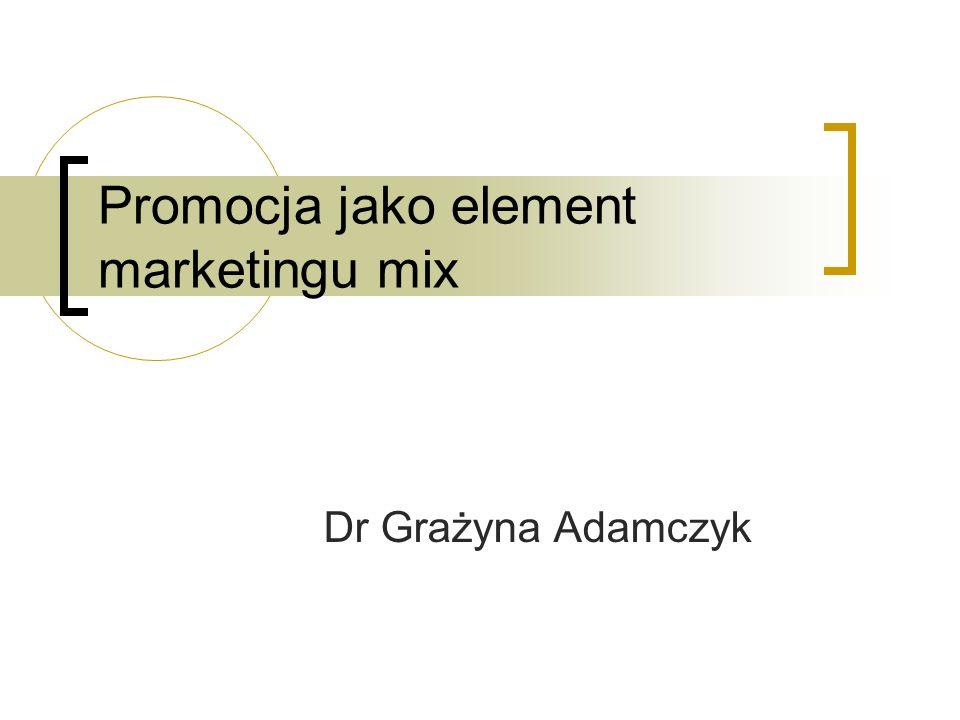 Promocja jako element marketingu mix