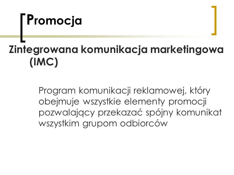 Promocja Zintegrowana komunikacja marketingowa (IMC)