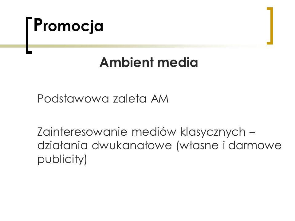 Promocja Ambient media Podstawowa zaleta AM