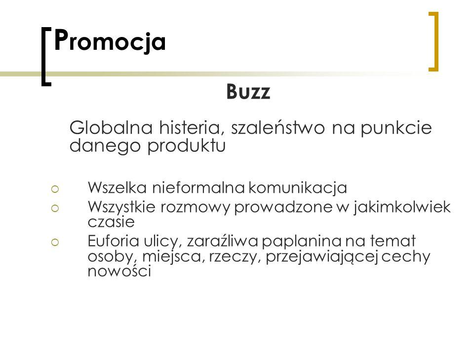 Promocja Buzz Wszelka nieformalna komunikacja