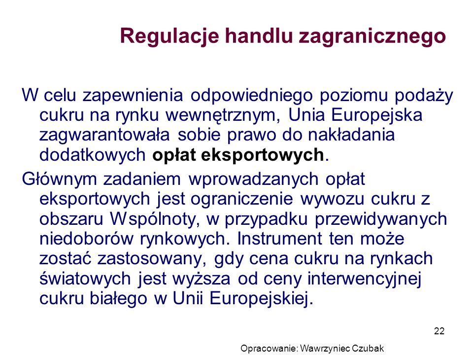 Regulacje handlu zagranicznego