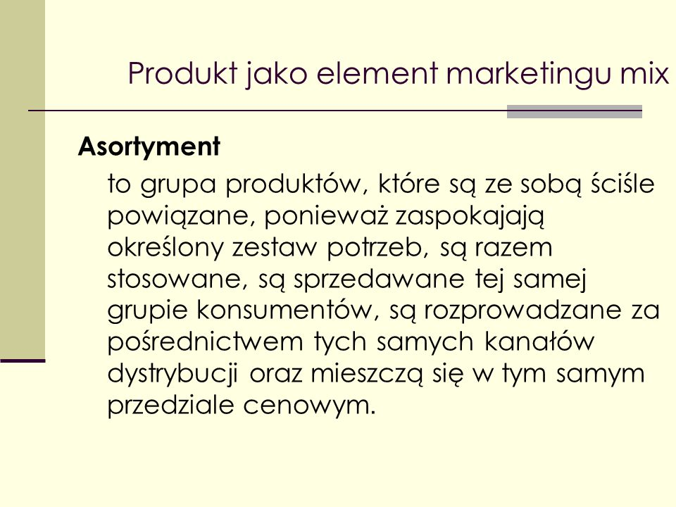 Produkt jako element marketingu mix