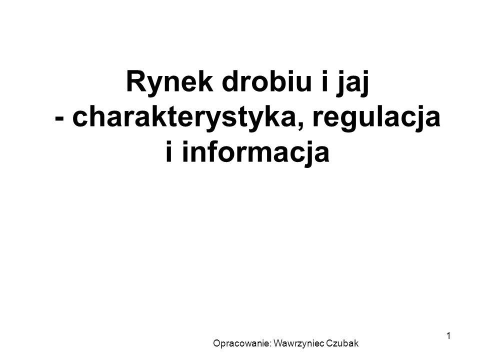 Rynek drobiu i jaj - charakterystyka, regulacja i informacja