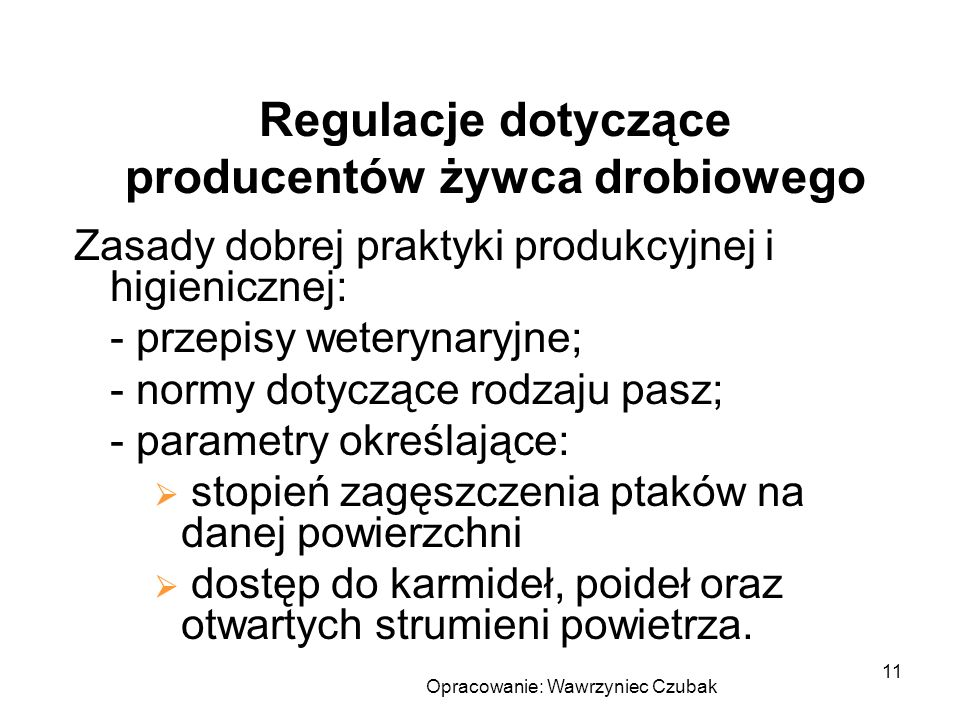 Regulacje dotyczące producentów żywca drobiowego