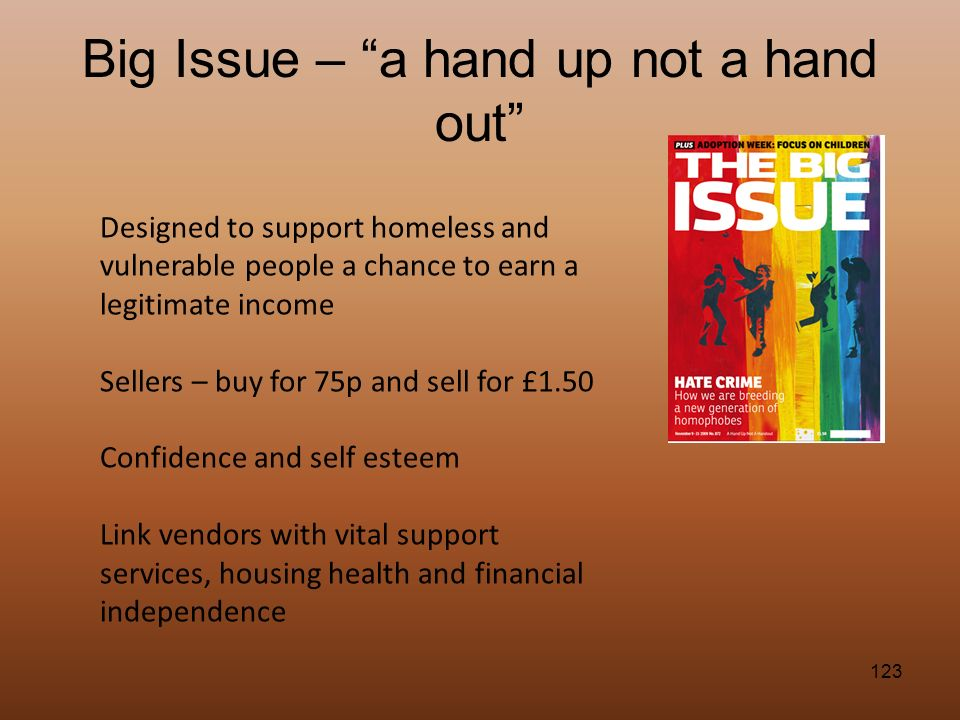 Big Issue – a hand up not a hand out