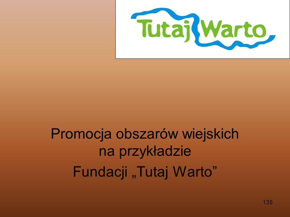"""Promocja obszarów wiejskich na przykładzie Fundacji """"Tutaj Warto"""