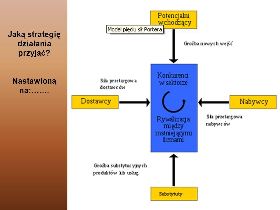Jaką strategię działania przyjąć Nastawioną na:…….