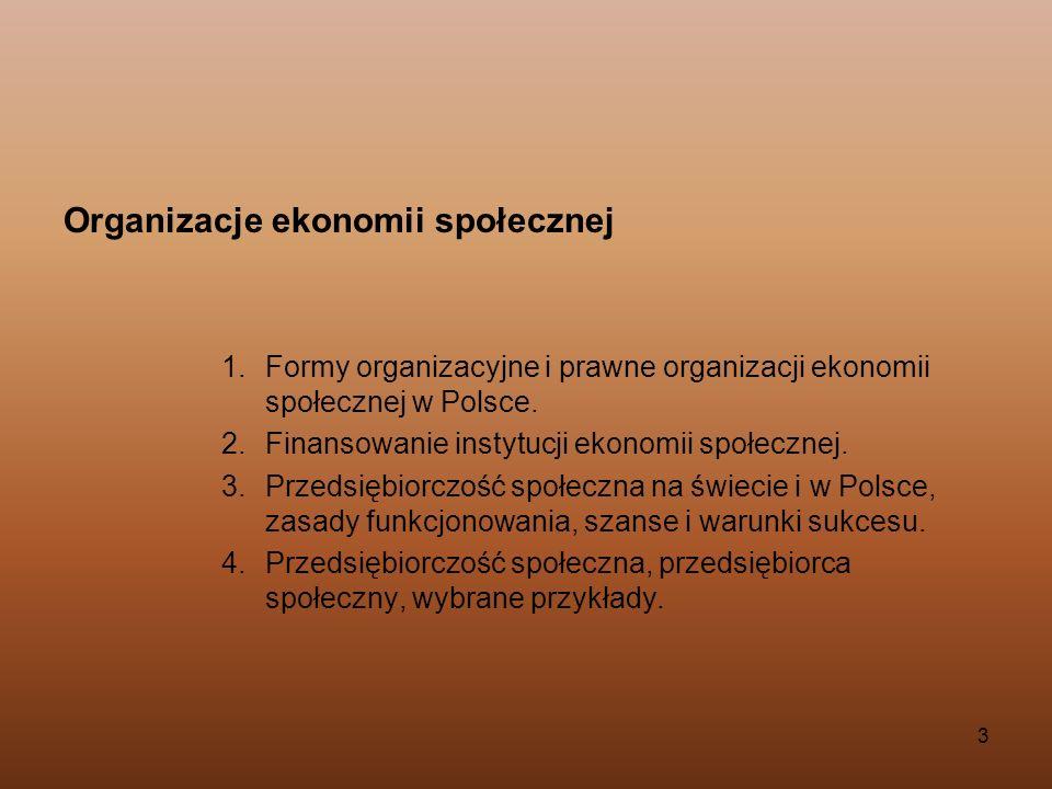 Organizacje ekonomii społecznej