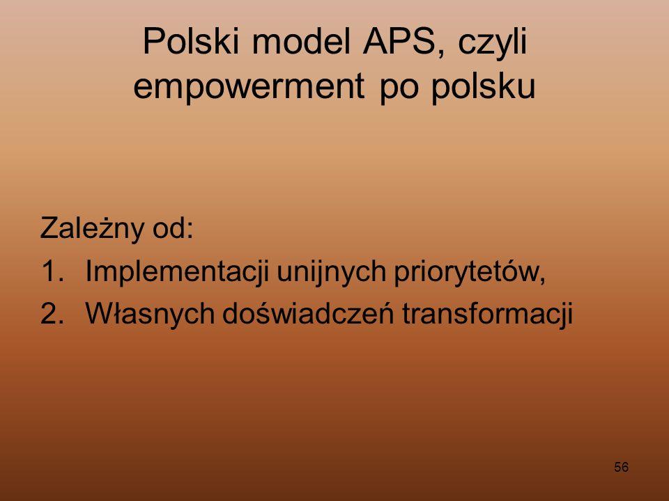 Polski model APS, czyli empowerment po polsku
