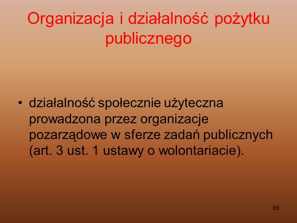 Organizacja i działalność pożytku publicznego