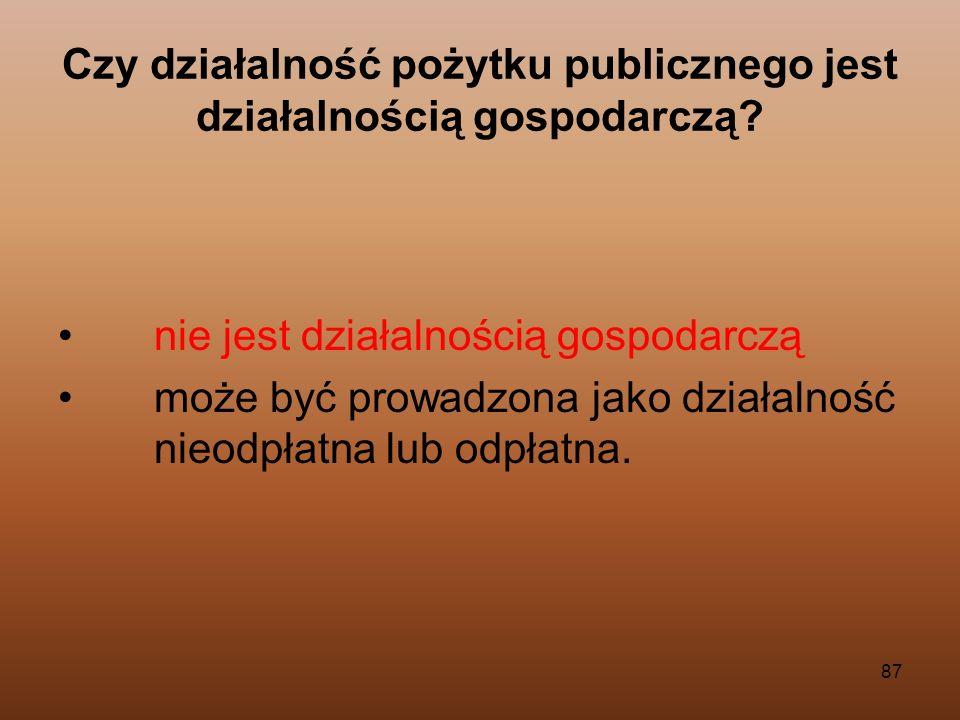 Czy działalność pożytku publicznego jest działalnością gospodarczą
