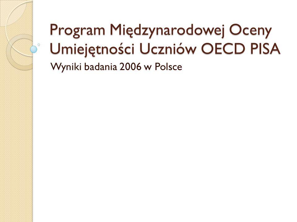 Program Międzynarodowej Oceny Umiejętności Uczniów OECD PISA