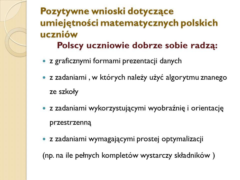 Polscy uczniowie dobrze sobie radzą: