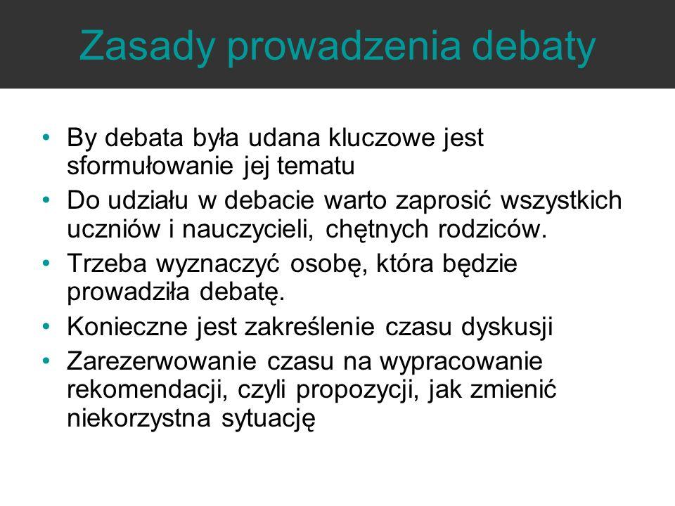 Zasady prowadzenia debaty