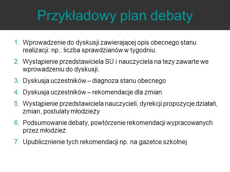 Przykładowy plan debaty