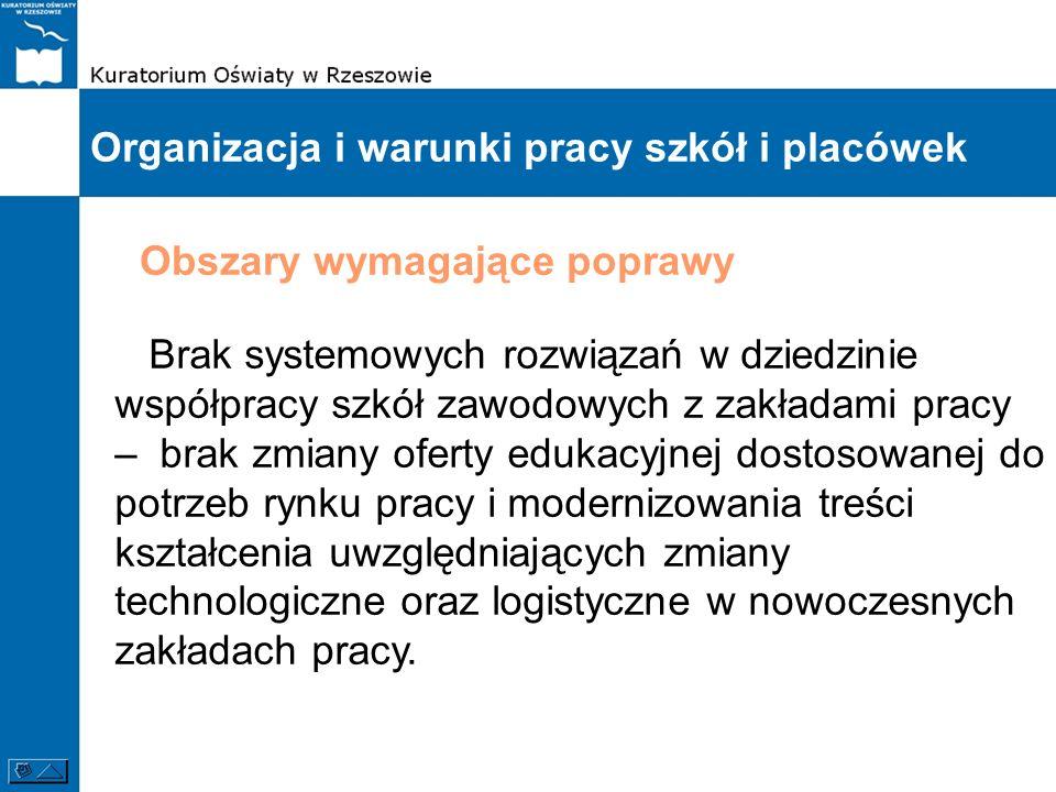 Organizacja i warunki pracy szkół i placówek